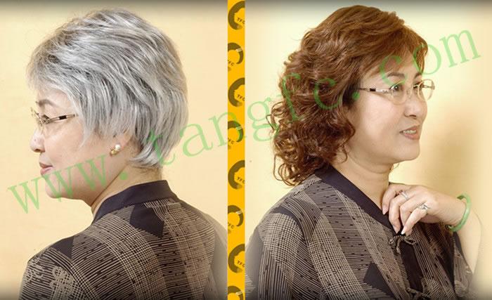 的健康问题,在唐风采进行了盖白发,人显得年轻,发型更是让她惊喜并图片