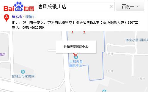 唐风采银川店百度地图